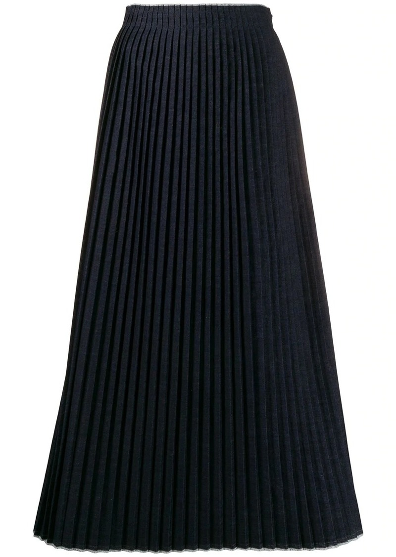 Maison Margiela denim pleated skirt