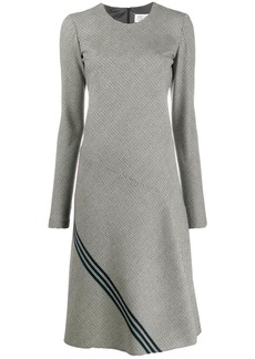Maison Margiela diagonal stripe houndstooth dress