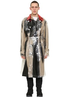 Maison Margiela Printed Pvc Double Breasted Trench Coat