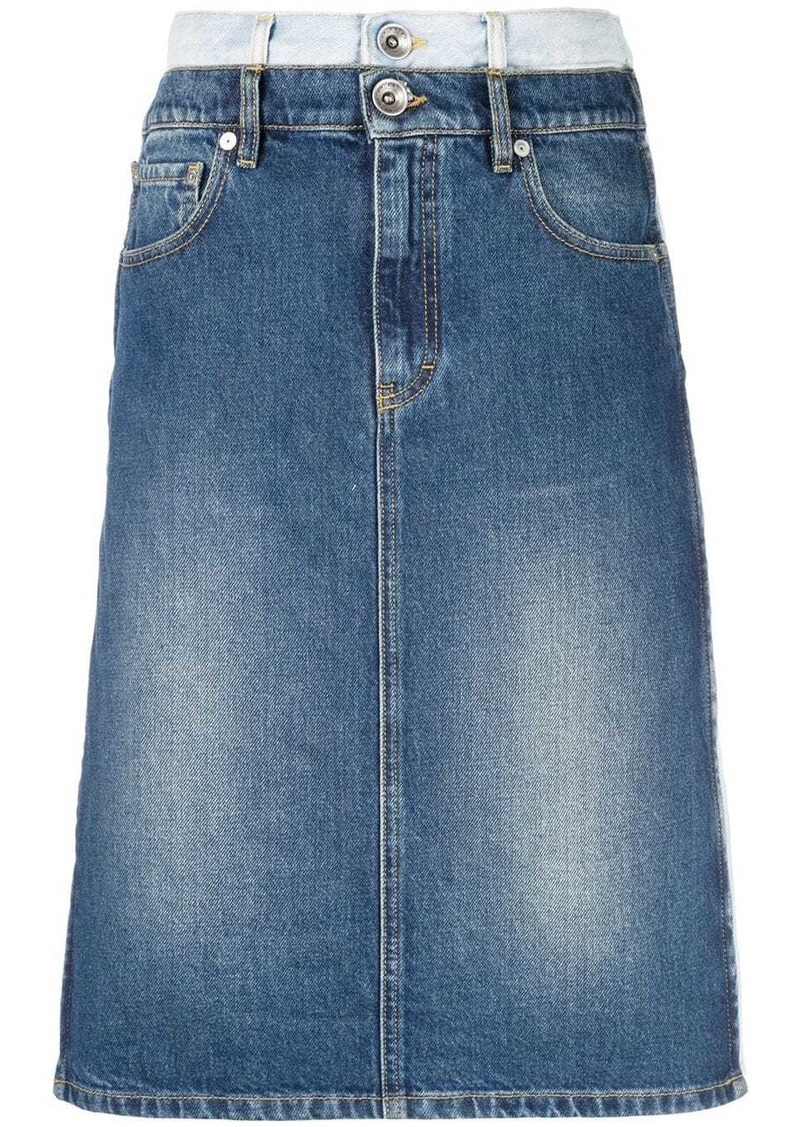 Maison Margiela double-denim skirt