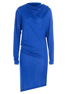 Maison Margiela Draped Wool Dress with Silk