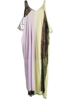 Maison Margiela panelled lace jersey dress