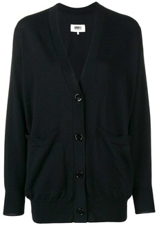 Maison Margiela elbow-patch fitted cardigan