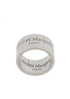Maison Margiela engraved logo silver ring