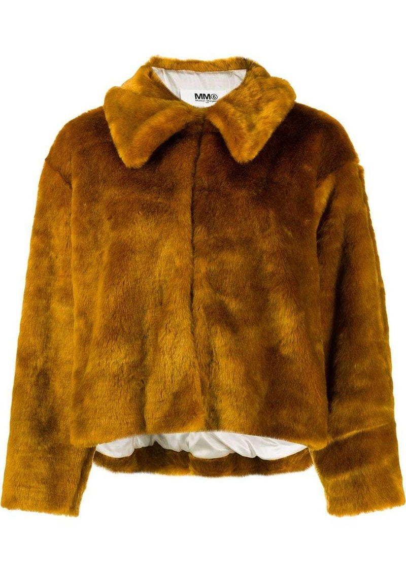 Maison Margiela faux-fur jacket