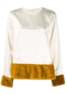Maison Margiela faux fur lined blouse