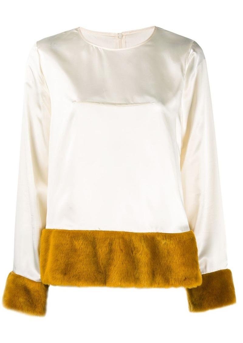 Maison Margiela faux fur lined blouse