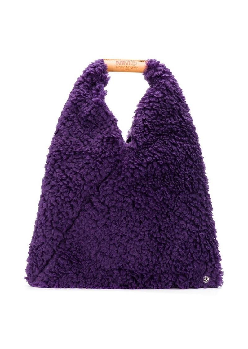 Maison Margiela faux-shearling tote bag
