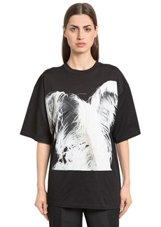 Maison Margiela Feather Print Cotton Jersey T-shirt