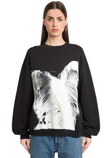 Maison Margiela Feather Print Cotton Sweatshirt