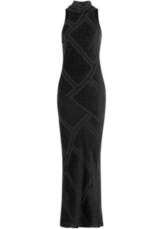 Maison Margiela Floor Length Dress with Velvet