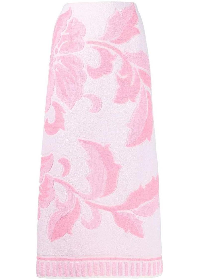 Maison Margiela floral print towelling skirt