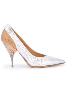 Maison Margiela foil and wood pumps