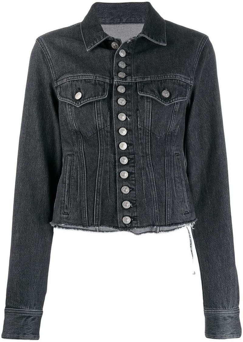 Maison Margiela frayed hem denim jacket
