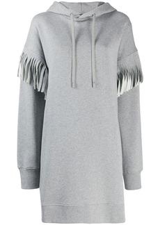 Maison Margiela fringed long-line hoodie