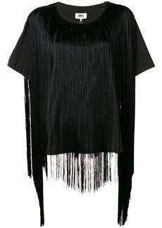 Maison Margiela fringed short-sleeve blouse