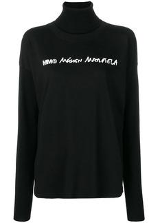 Maison Margiela front logo knitted sweatshirt