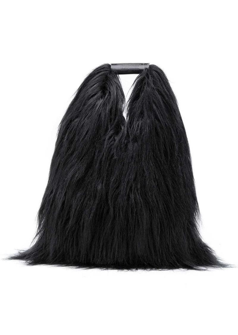 Maison Margiela fur look tote bag