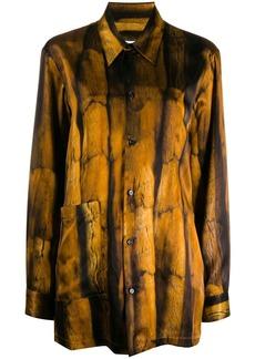 Maison Margiela fur-print shirt