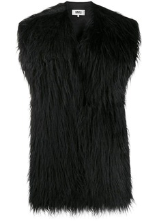Maison Margiela furry tied back scarf