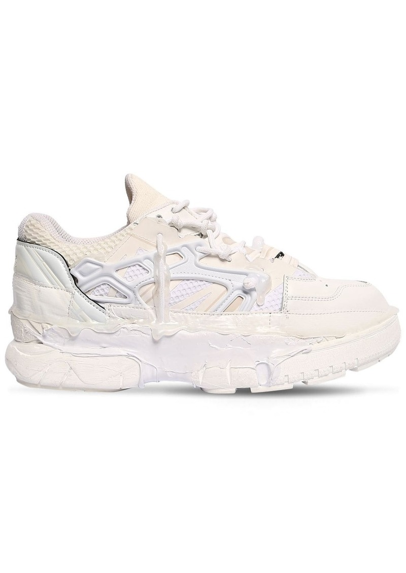 Maison Margiela Fusion Leather & Mesh Low Top Sneakers