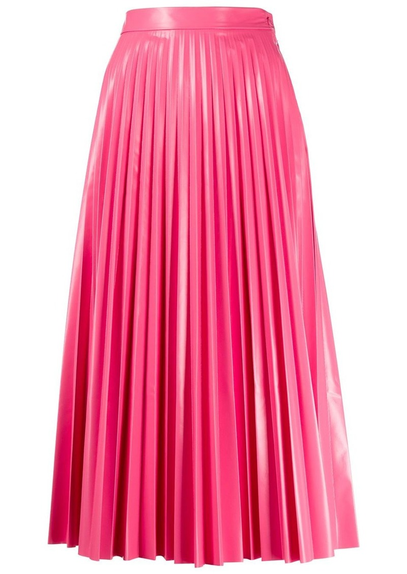 Maison Margiela glossy-effect pleated midi skirt
