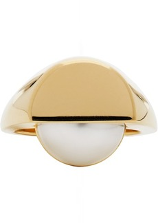 Maison Margiela Gold Pearl Cut Chevalier Ring