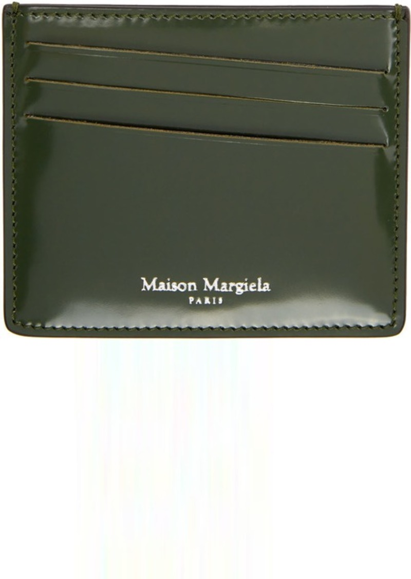 Maison Margiela Green & Black Leather Card Holder