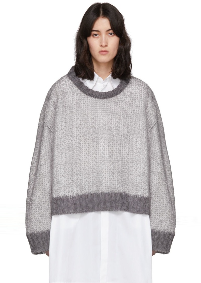 Maison Margiela Grey & White Crewneck Sweater