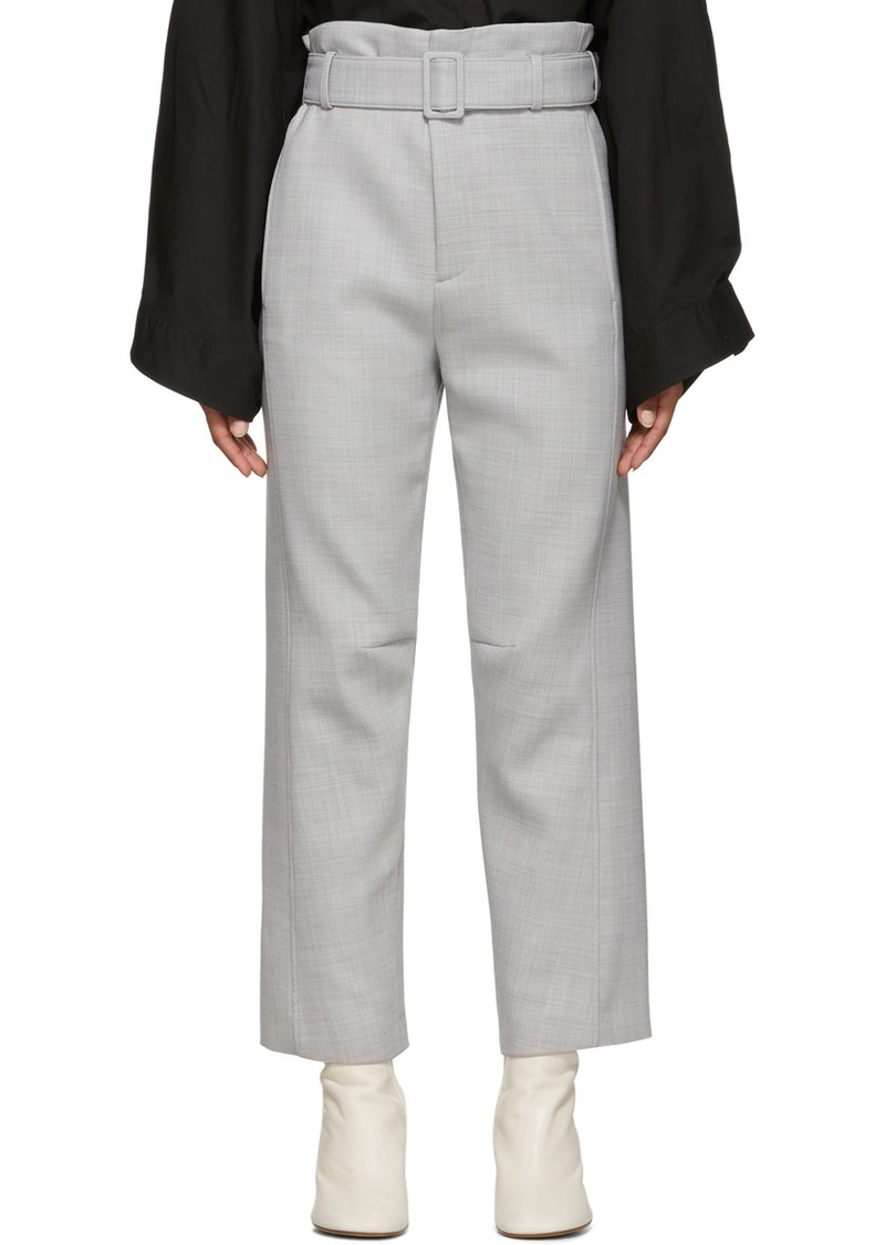 Maison Margiela Grey Belted Paperbag Trousers