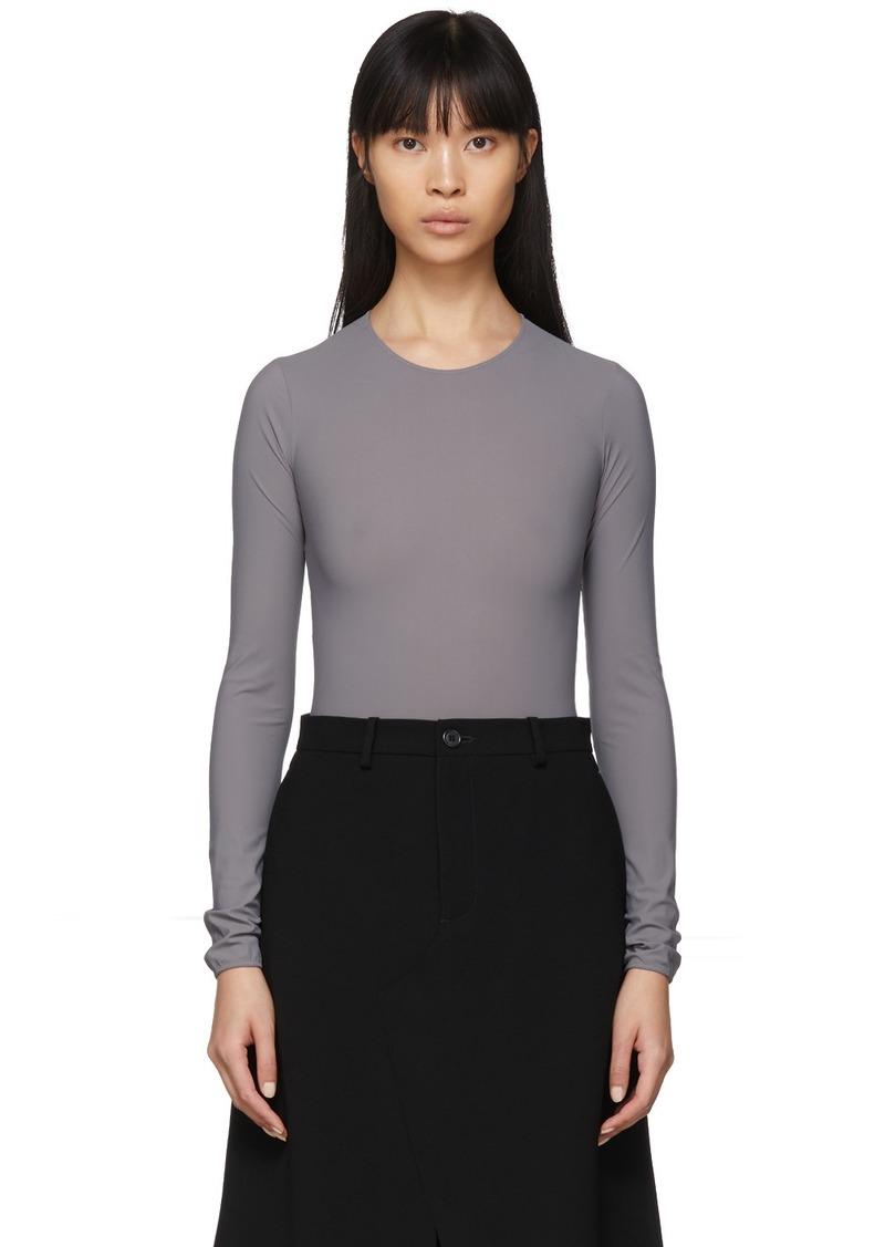 Maison Margiela Grey Jersey Long Sleeve Bodysuit