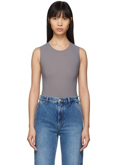 Maison Margiela Grey Jersey Sleeveless Bodysuit