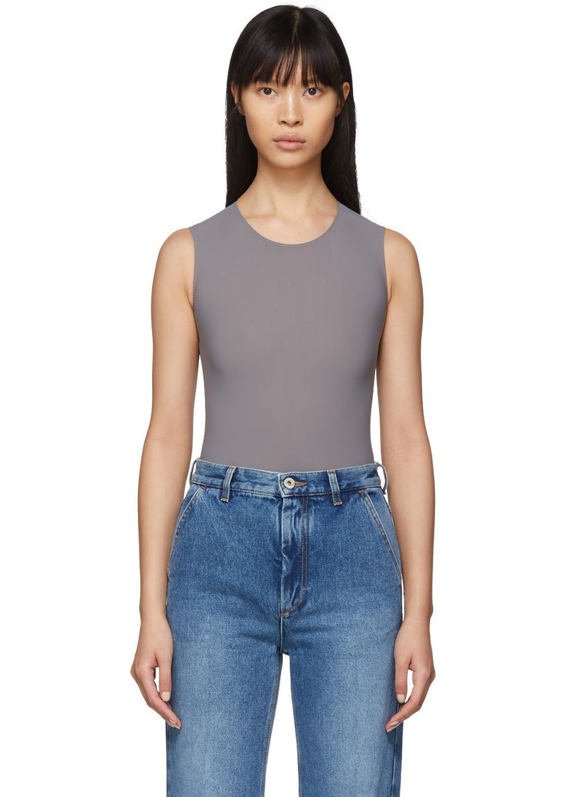 Maison Margiela Grey Jersey Sleeveless Bodysuit