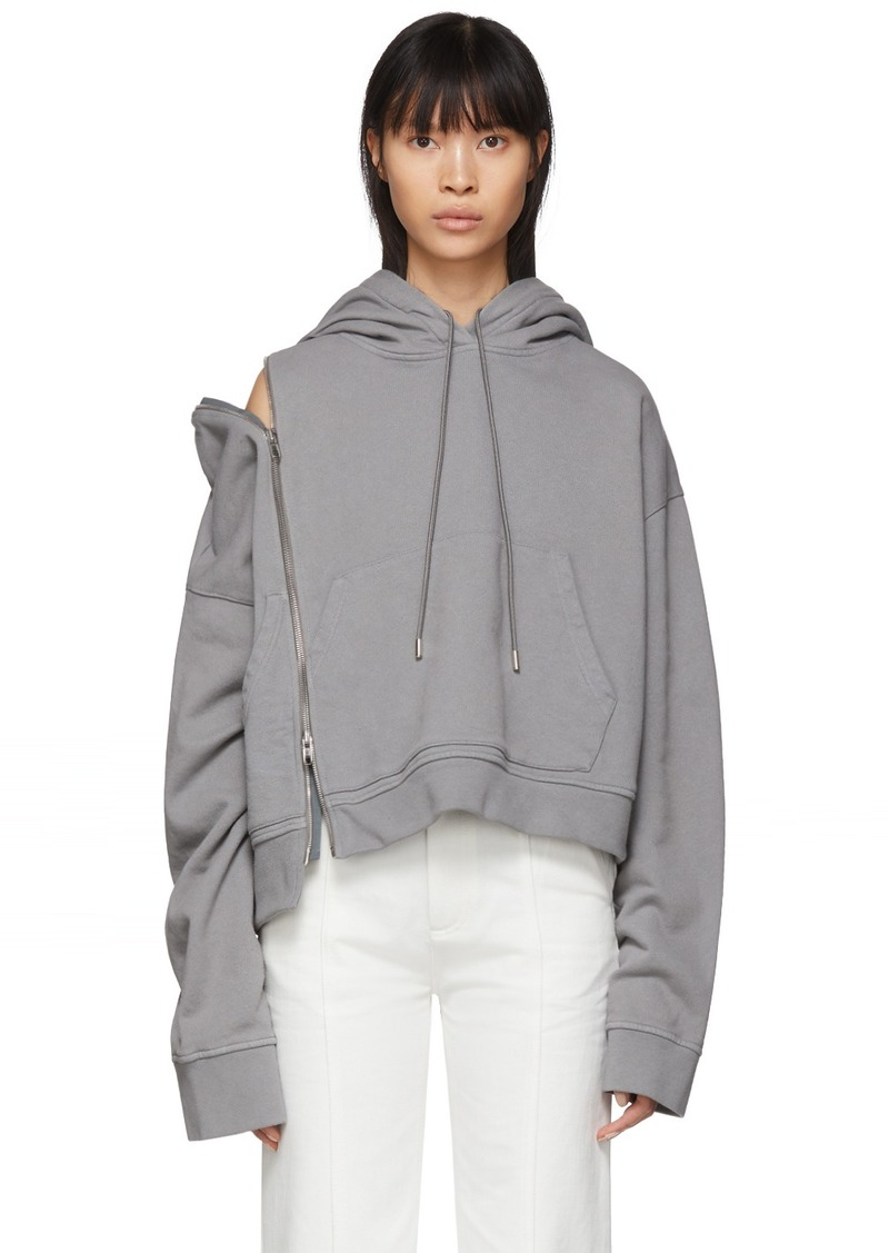 Maison Margiela Grey Multi-Wear Zip Hoodie