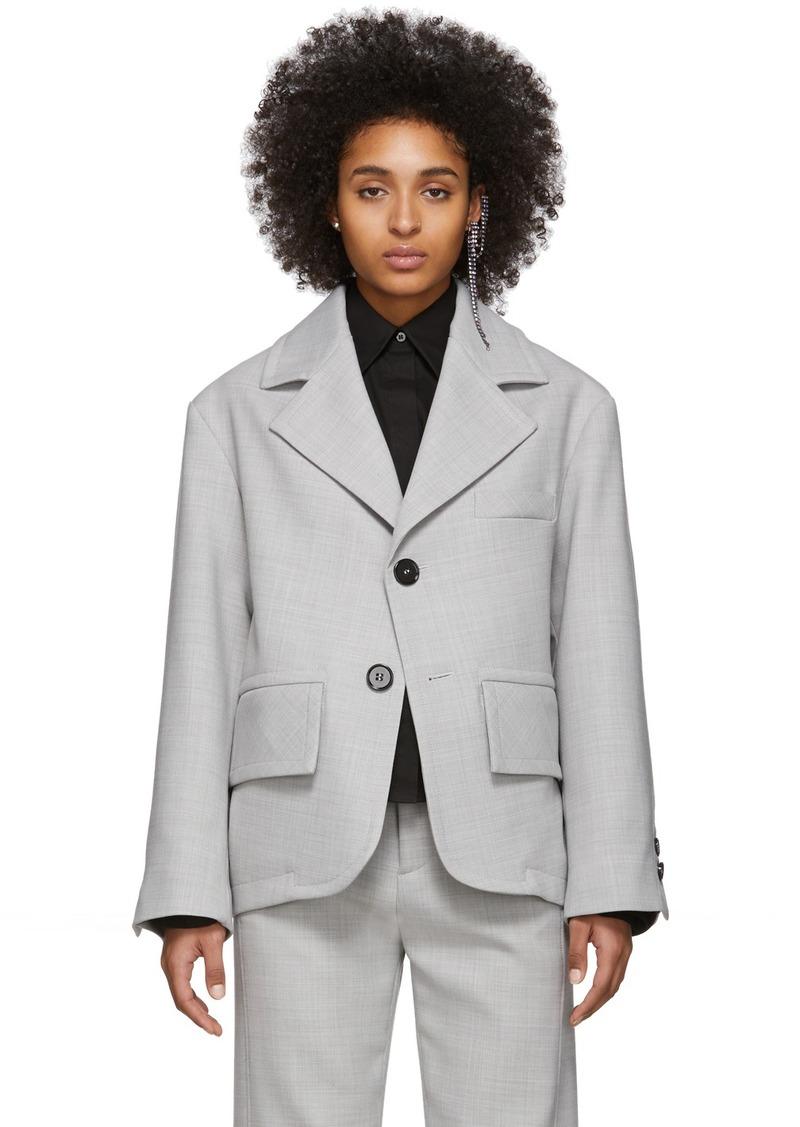 Maison Margiela Grey Oversized Blazer