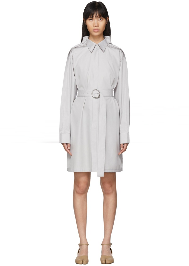 Maison Margiela Grey Poplin Double Collar Dress