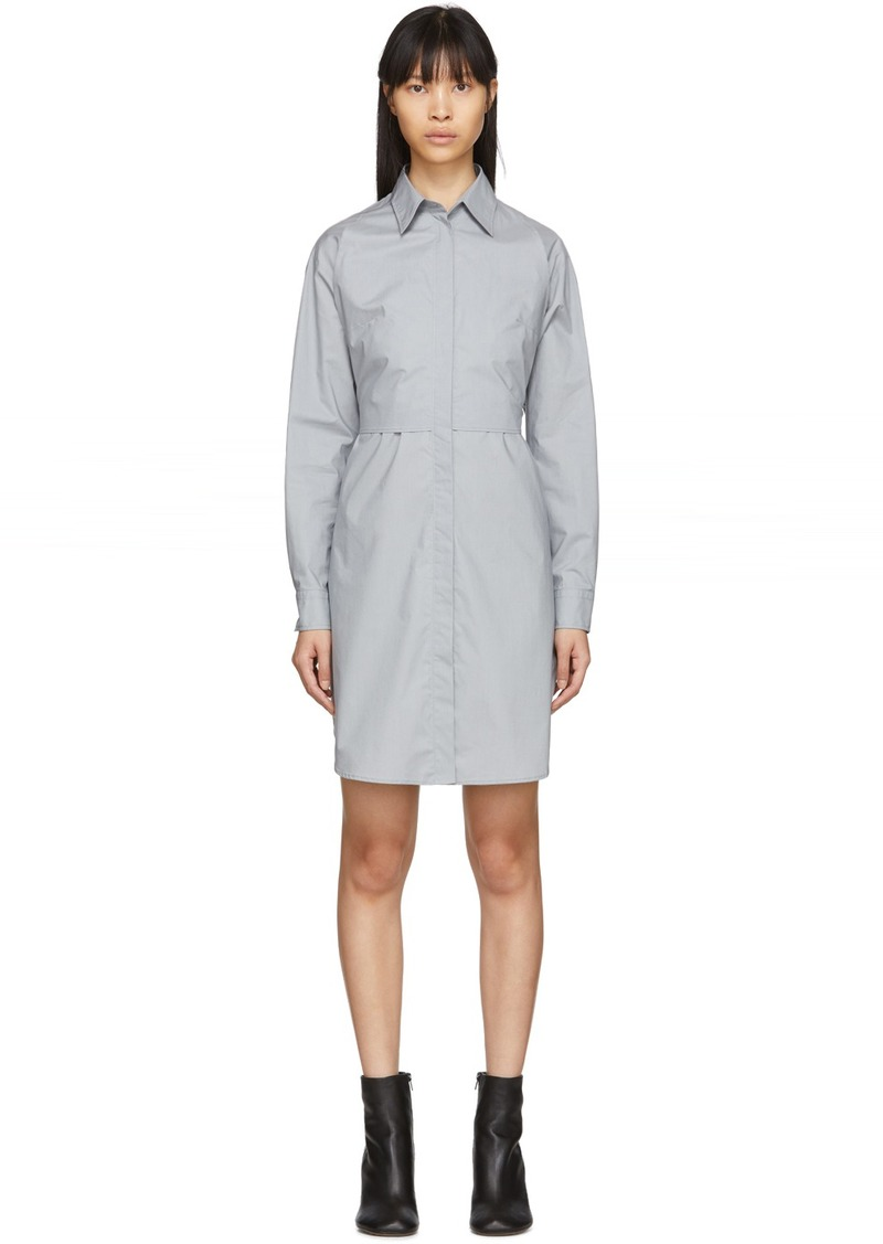 Maison Margiela Grey Poplin Shirt Dress