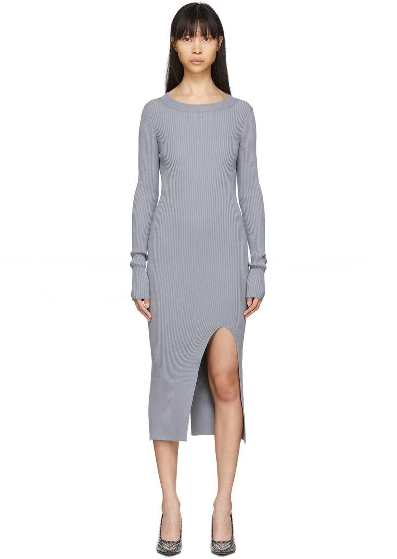 Maison Margiela Grey Ribbed Dress