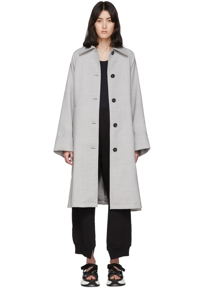 Maison Margiela Grey Wool Trench Coat