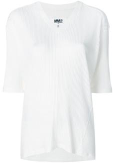 Maison Margiela half sleeve V-neck sweater