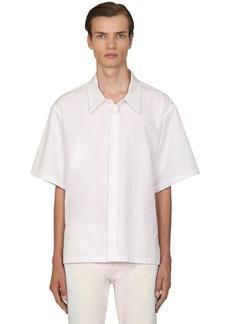 Maison Margiela Heavy Cotton Poplin Short Sleeve Shirt