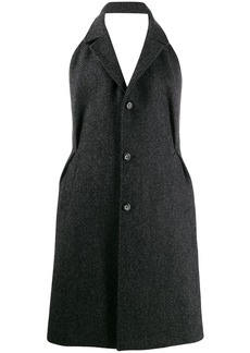 Maison Margiela herringbone open back coat