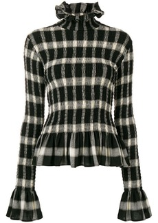 Maison Margiela high-neck check top