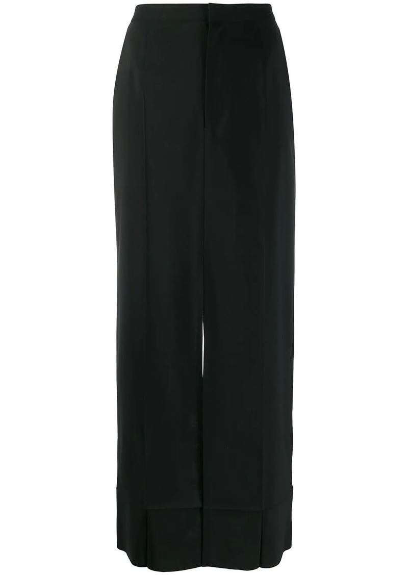 Maison Margiela high-waist front slit skirt
