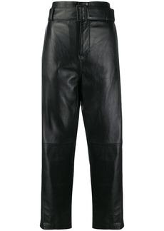 Maison Margiela high waist leather trousers