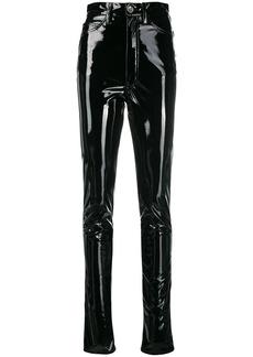 Maison Margiela high-waisted vinyl trousers