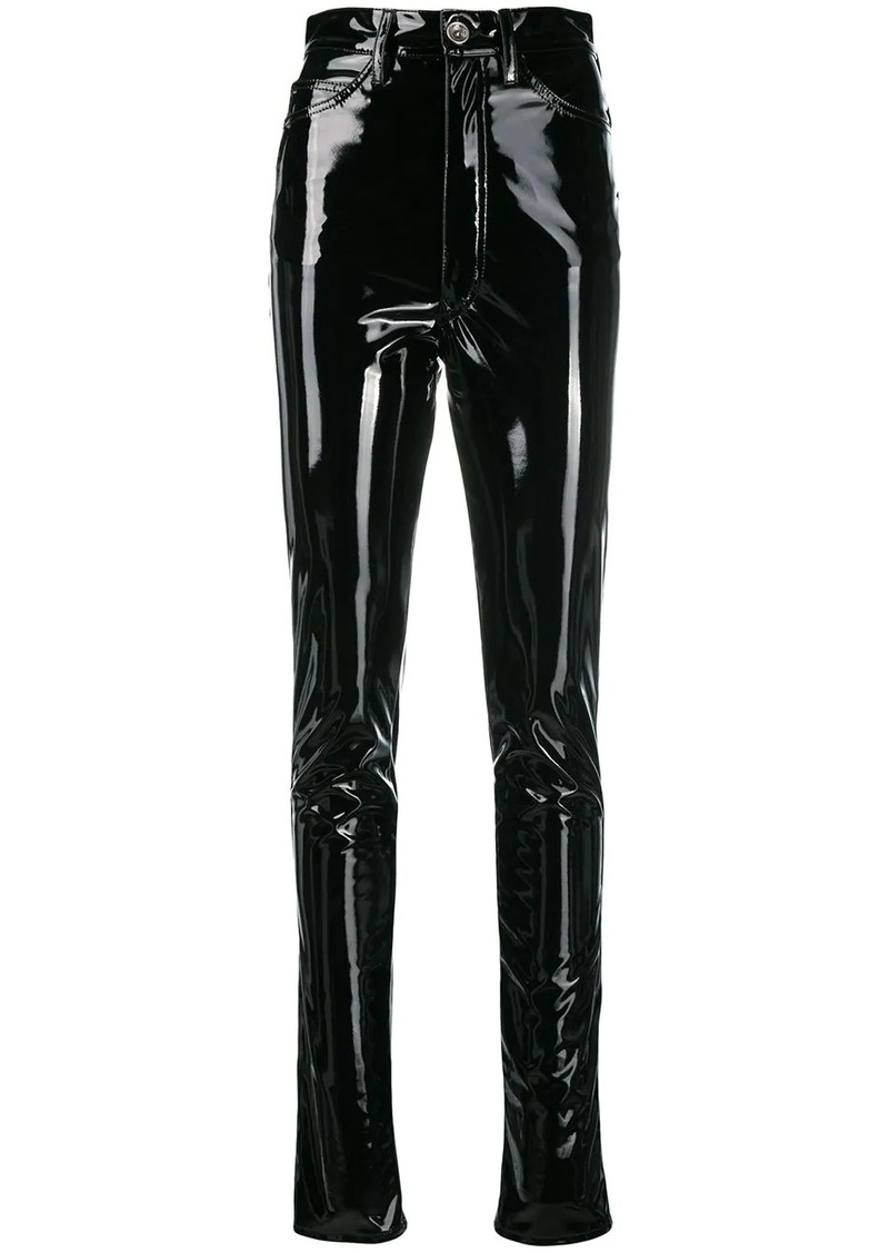 Maison Margiela high-waisted vinyl trousers