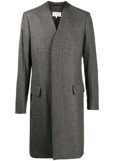 Maison Margiela houndstooth collarless coat