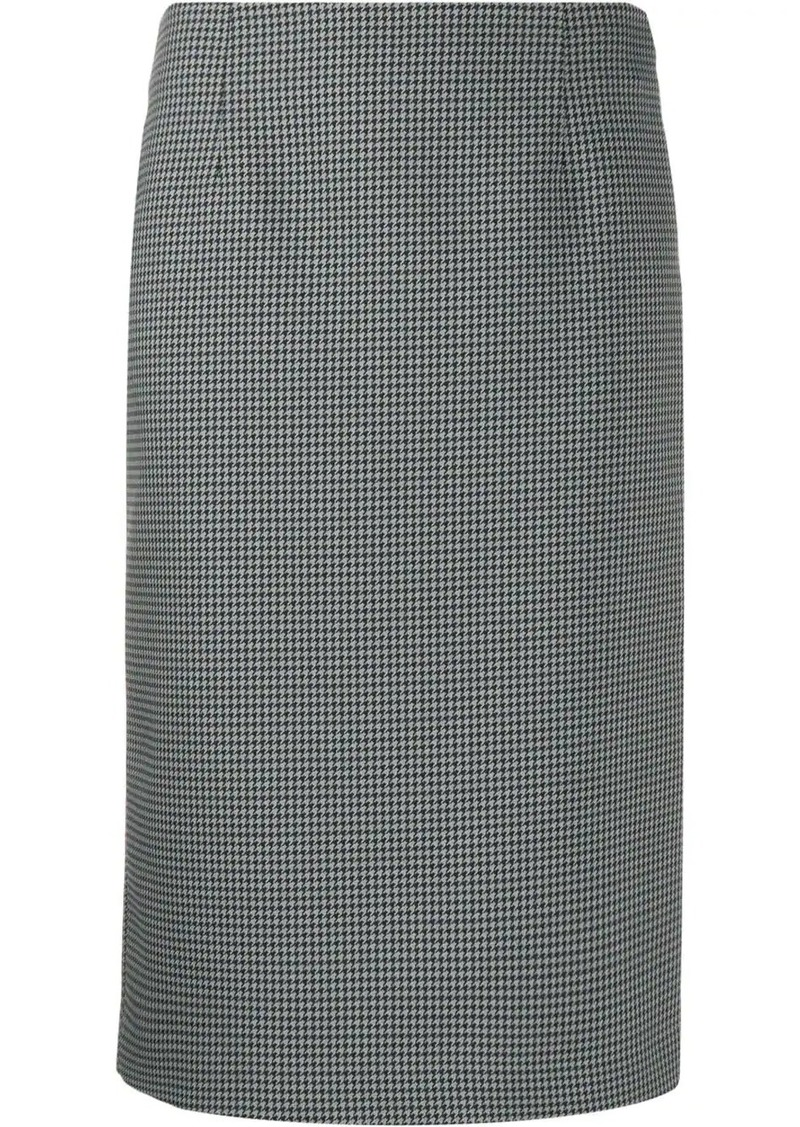 Maison Margiela houndstooth pencil skirt
