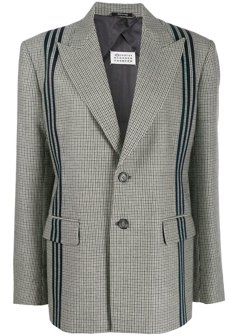 Maison Margiela houndstooth piped blazer
